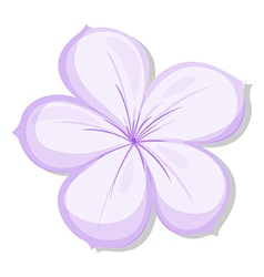 A five-petal violet flower vector