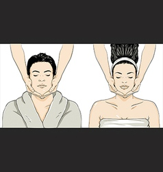 Massage - man-woman vector