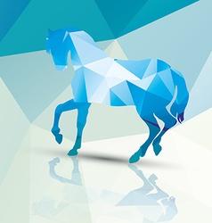 Geometric polygonal horse pattern design vector