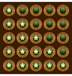 Game steampunk web rating stars set vector