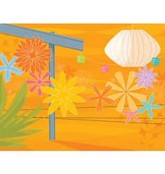 retro garden party vector image