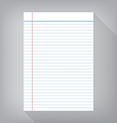 Notebook paper isolated gray background empty vector