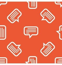 Orange text message pattern vector