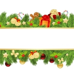 Christmas template with fir vector