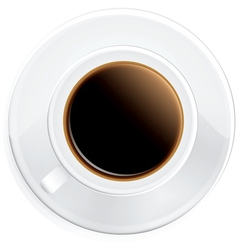 Black coffee on saucer vector