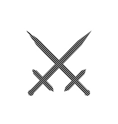 Crossed swords sign vector