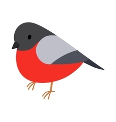 Bullfinch icon isometric 3d style vector