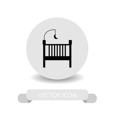 baby bed icon vector image