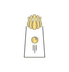 bowling computer symbol vector image vector image
