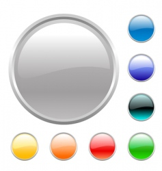 buttons set vector image vector image