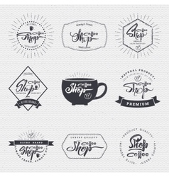 Coffee shop - badge signboard can be used to vector