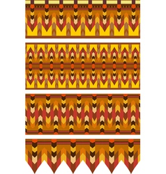 Ethnic Pattern Stripe Set vector image vector image