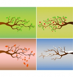 four season vector image vector image