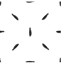fresh peas pattern seamless black vector image vector image