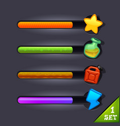 game resource bar-set 1 vector image vector image
