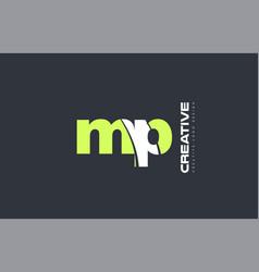 Green letter mp m p combination logo icon company vector