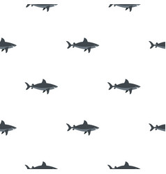 grey shark fish pattern seamless vector image