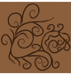 Grunge brown flourish ornament vector image vector image