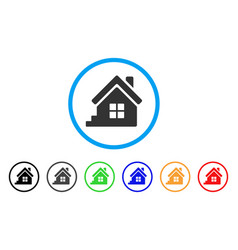 House porch rounded icon vector