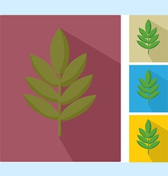 icons with leaf vector image vector image