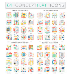 infographics concept icons of startup development vector image vector image