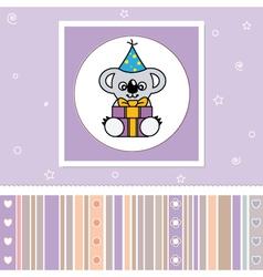 Koala with a gift vector image