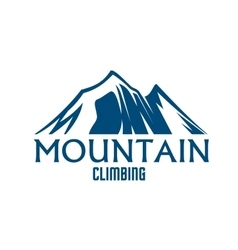 Mountain climbing sport isolated icon vector