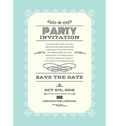Party invitation card vector image vector image