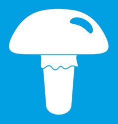 Poisonous mushroom icon white vector