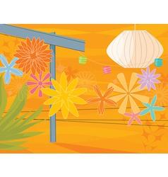 retro garden party vector image vector image