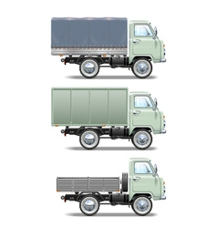 Retro light truck vector
