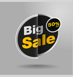 Sale banner stickers design vector