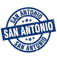 San antonio blue round grunge stamp vector