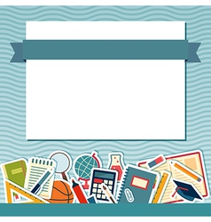 School background with place for text vector image vector image
