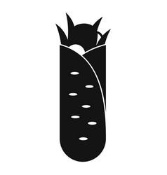 Shawarma icon simple black style vector