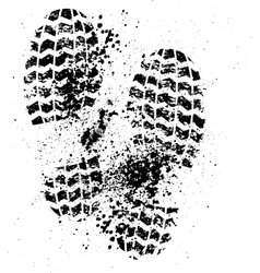 Shoes print grunge vector image vector image