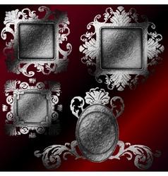 silver frames set vector image vector image