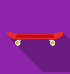 Skateboard icon in flat style isolated on white vector