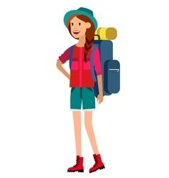 Summer camping characters vector