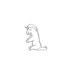 unicorn cartoon icon vector image