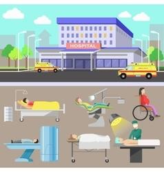 Medical diagnostic equipment and medical staff vector