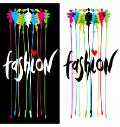Fashion logo design vector image
