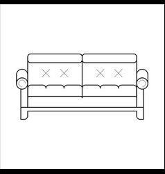 green sofa classic cozy couch vector image
