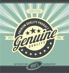 Vintage promotional poster for premium quality pro vector