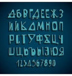 Hand drawn russian alphabet letters vector