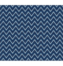 Blue knitted pattern vector