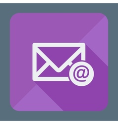 Mail icon envelope with email sign flat design vector