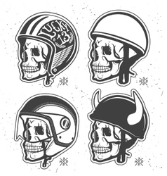 Helmets set vector