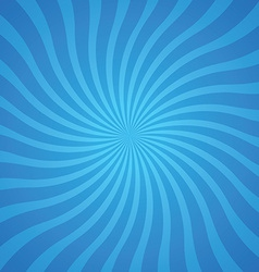 Popular blue color twist rotate ray background vector