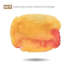 Abstract watercolor art paint on white background vector